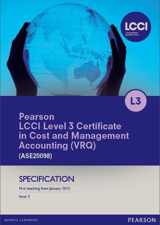 LCCI Level 3 (ASE20098) 2015 Syllabus
