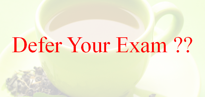 Defer your LCCI Exam or Not ??